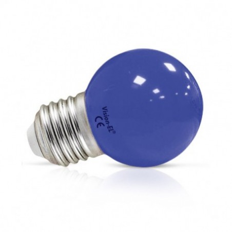 Ampoule LED E27 Bulb G45 1W Bleu