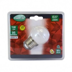Miidex Lighting - {reference} - Ampoule LED E27 Bulb G45 1W 6000°K