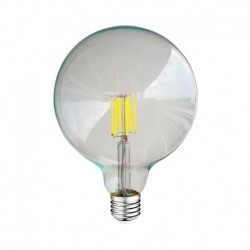 Miidex Lighting - {reference} - Ampoule LED E27 G125 Filament 8W 6000°K