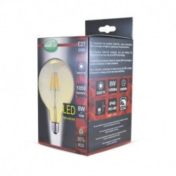 Miidex Lighting - {reference} - Ampoule LED E27 G95 Filament 8W 4000°K