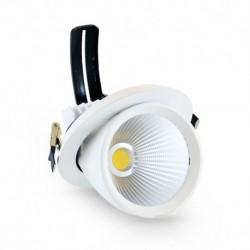 Spot LED Escargot Rond Inclinable et Orientable avec Alimentation Electronique 10W 4000°K