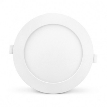 Plafonnier LED PC Blanc Ø170mm 12W 6000°K