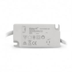 Miidex Lighting - {reference} - VISION-EL | Plafonnier LED PC Blanc Ø170mm 12W 6000°K