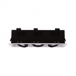 SPOT CARDAN LED BLANC ORIENTABLE  3x10 Watt 3000°K 3x900 LM Boite