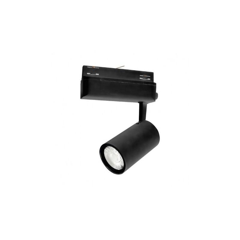 Spot LED sur Rail Noir 25W 3000°K 2200 LM + adaptateur rail 3 allumages
