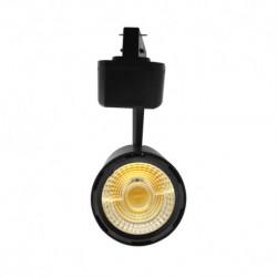 Miidex Lighting - {reference} - Spot LED sur Rail Noir 25W 3000°K 2200 LM + adaptateur rail 3 allumages