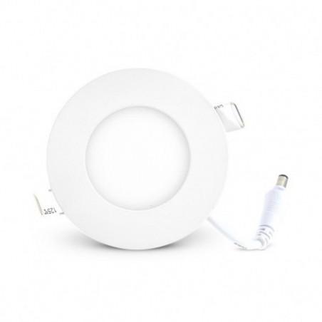Plafonnier LED Blanc Ø90 3W 4000°K