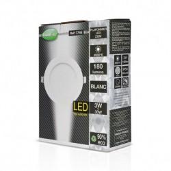 Miidex Lighting - {reference} - Plafonnier LED Blanc Ø90 3W 4000°K
