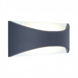 Miidex Lighting - {reference} - Applique Murale LED 6 Watt 230V 3000°K Anthracite IP65