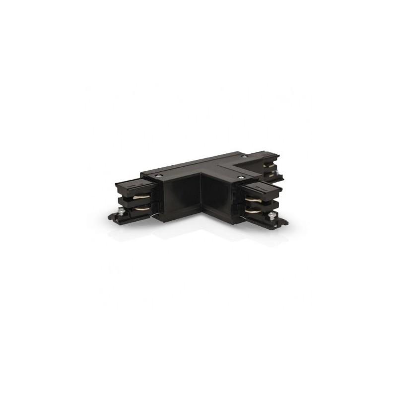 Connecteur Triphase Forme T Circuit Intérieur Droit Noir
