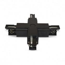Miidex Lighting - {reference} - Connecteur Triphase Croix X Noir