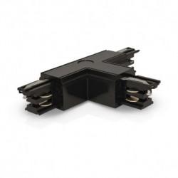 Connecteur Triphase Forme T Circuit Extérieur Gauche Noir