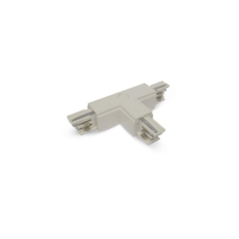 Connecteur Triphase Forme T Circuit Intérieur Gauche Blanc