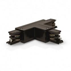 Connecteur Triphase Forme T Circuit Intérieur Gauche Noir