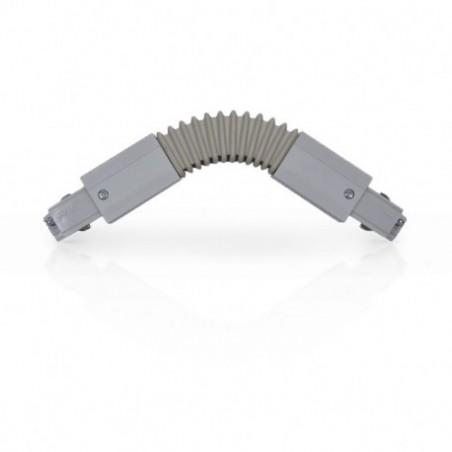 Miidex Lighting - {reference} - Connecteur Triphase Flexible Gris