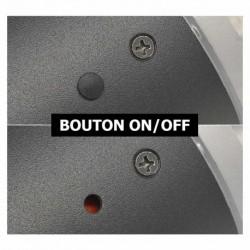 Miidex Lighting - {reference} - Potelet Solaire Conique LED 4W 4000°K Noir 380mm