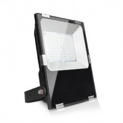 Miidex Lighting - {reference} - Projecteur Exterieur LED Noir 230V 100W RGB+Blanc IP65