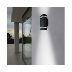 Miidex Lighting - {reference} - Vision-El | Applique Murale LED GU10 x2 Gris Anthracite