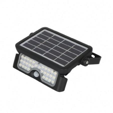 Projecteur Exterieur LED Solaire Noir 5W 4000°K IP65