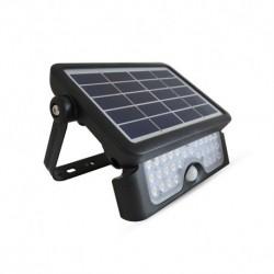 Miidex Lighting - {reference} - VISION-EL  Projecteur Extérieur LED Solaire Noir 5W 4000°K IP65