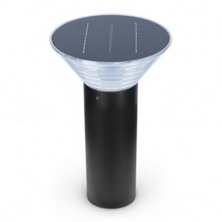 Miidex Lighting - {reference} - Potelet Solaire Conique LED 4W 3000°K Noir 380mm