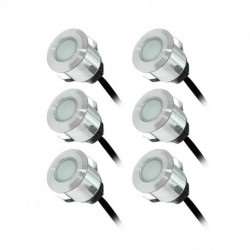 Miidex Lighting - {reference} - KIT 6 SPOTS LED TERRASSE 0,6W 12V 3000°K