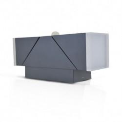 Miidex Lighting - {reference} - Applique Murale LED 13W 720 LM Détecteur 4000°K Gris IP54