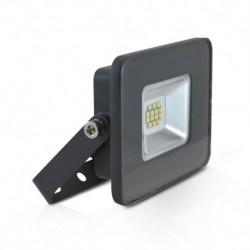 Miidex Lighting - {reference} - Projecteur LED Plat Gris 10W 6000°K IP65