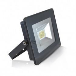 Miidex Lighting - {reference} - Projecteur LED Plat Gris 20W 6000°K IP65