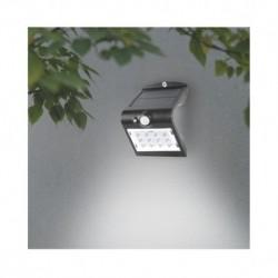 Miidex Lighting - {reference} - Applique Murale LED Solaire 1.5W 4000°K Noir + Détecteur