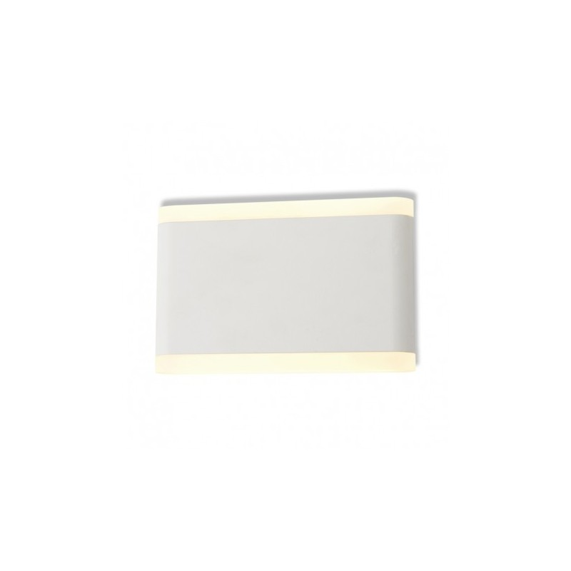 Miidex Lighting - {reference} - APPLIQUE MURALE LED 10 W 175 mm 4000°K BLANC IP54
