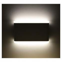 Miidex Lighting - {reference} - APPLIQUE MURALE LED 10 W 175 mm 4000°K GRIS ANTHRACITE IP54