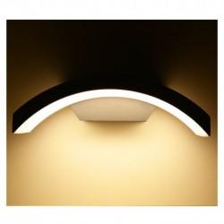 Miidex Lighting - {reference} - Applique Murale Curviligne LED 6W 4000°K Gris Anthracite IP54