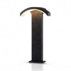 Potelet Rectangulaire LED 6W diffuseur curviligne 4000°K gris IP54