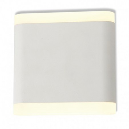 Miidex Lighting - {reference} - APPLIQUE MURALE LED   6 W 115 mm CARRE 4000°K BLANC IP54