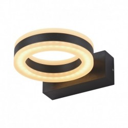 Miidex Lighting - {reference} - APPLIQUE MURALE LED 12 W   ROND 4000°K GRIS ANTHRACITE IP54