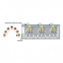 Miidex Lighting - {reference} - Variateur crépusculaire Dimmable 1-10V LED encastrable 360°