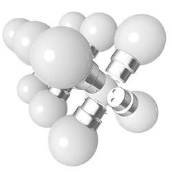 Lot de 12 ampoules Led B22 1W Guirlande Blanc...