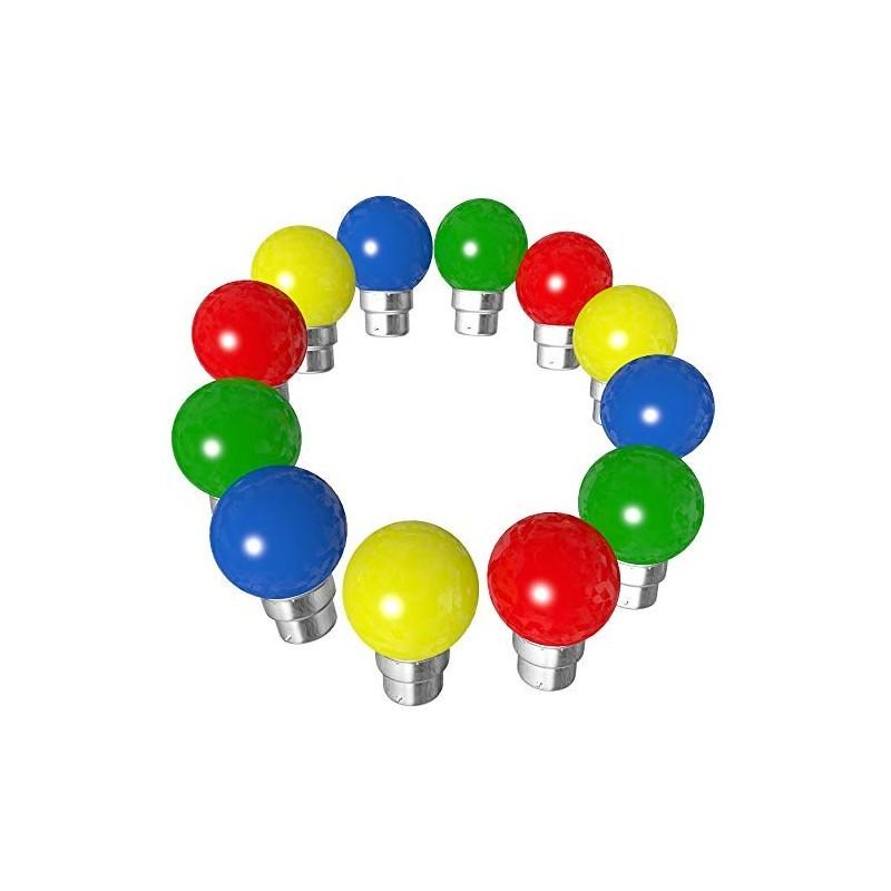 Rêvenergie - {reference} - Lot de 12 ampoules Led B22 Multicolore pour guirlande guinguette
