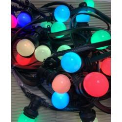 Rêvenergie - {reference} - Guirlande Guinguette RGB 10m 20 ampoules LED B22 raccordable étanche