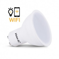 Miidex Lighting - {reference} - Ampoule LED GU10 Connectée WIFI 5W CCT + RGB