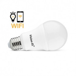 Miidex Lighting - {reference} - Ampoule LED E27 Connectée WIFI 12W CCT + RGB