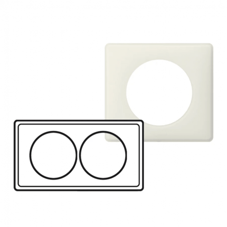 Legrand - {reference} - PLAQUE 2P 57MM CRAIE