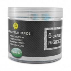 Connecteur rapides 5 fils rigides boite 50pcs