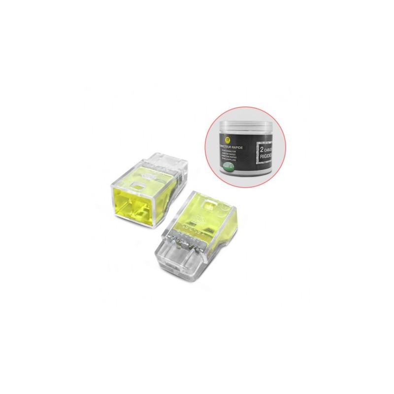 Connecteur rapides 2 fils rigides boite 100pcs