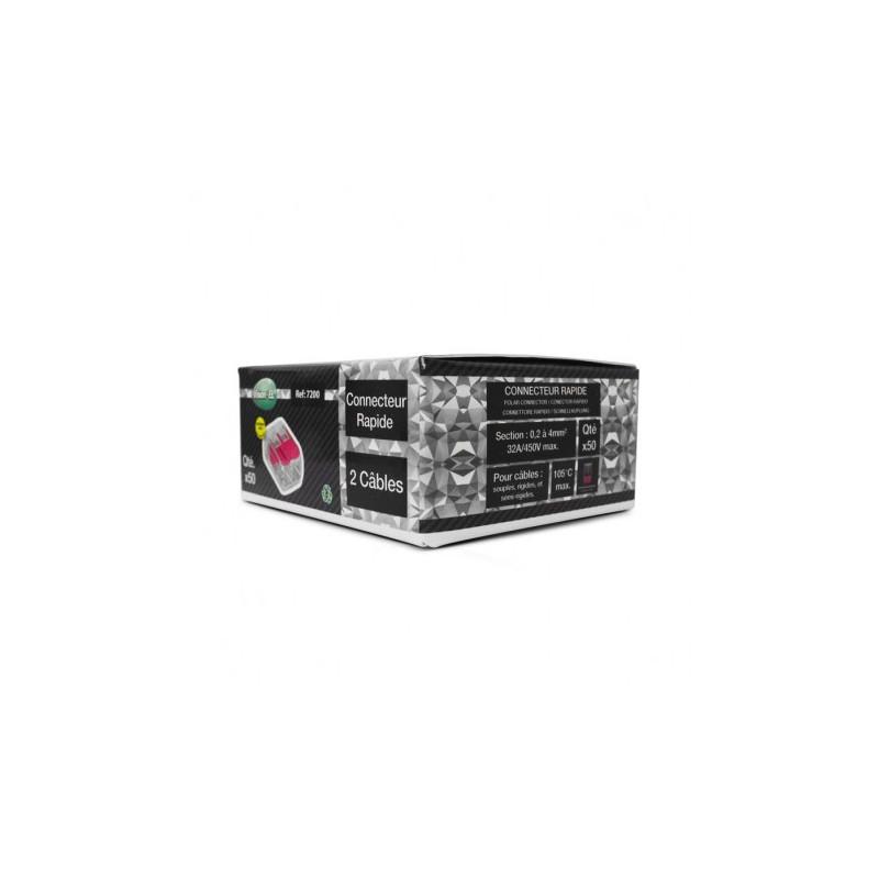 Connecteur automatique 2 câbles  pack de 50-7200