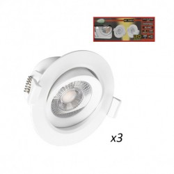 Spot LED SMD Orientable 3W 3000°K pack de 3