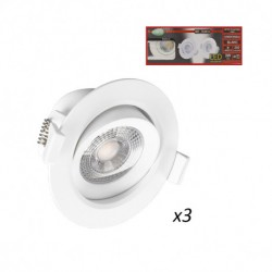 Spot LED SMD Orientable 3W 4000°K pack de 3