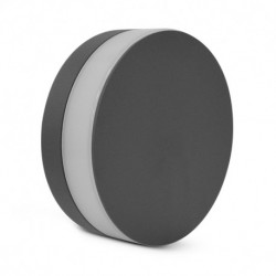Miidex Lighting - {reference} - Applique Murale LED Rond Anthracite 10W 4000°K IP54