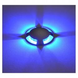 Spot LED Balise Bleu Rond 4 diffuseurs 1W